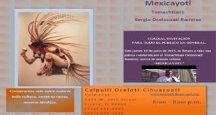 Plática sobre cultura Méxicana